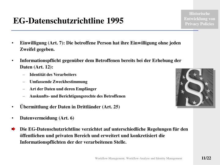 EG-Datenschutzrichtline 1995
