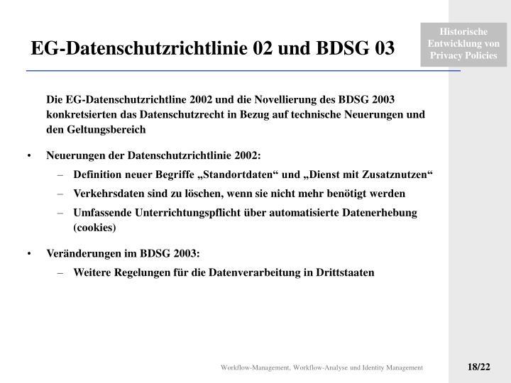 EG-Datenschutzrichtlinie 02 und BDSG 03