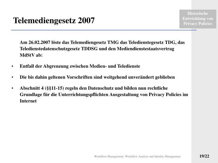 Telemediengesetz 2007
