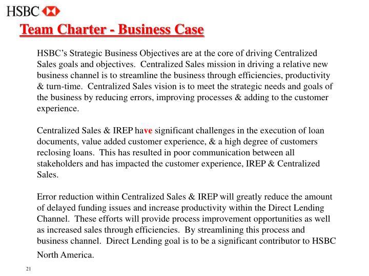 Team Charter - Business Case