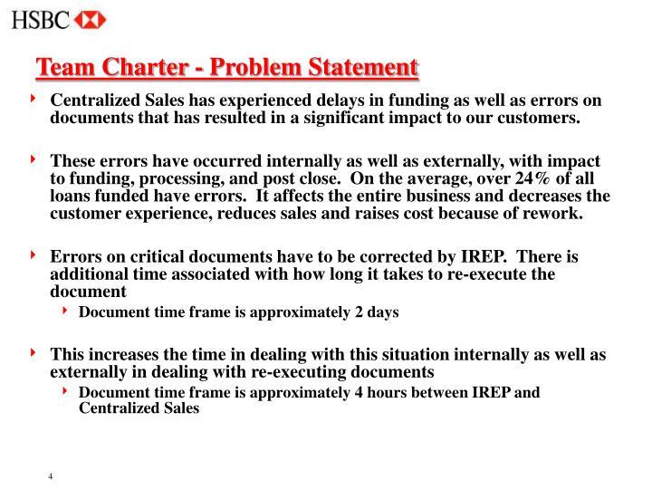 Team Charter - Problem Statement