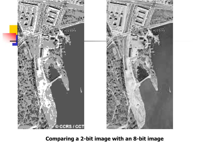 Comparing a 2-bit image with an 8-bit image