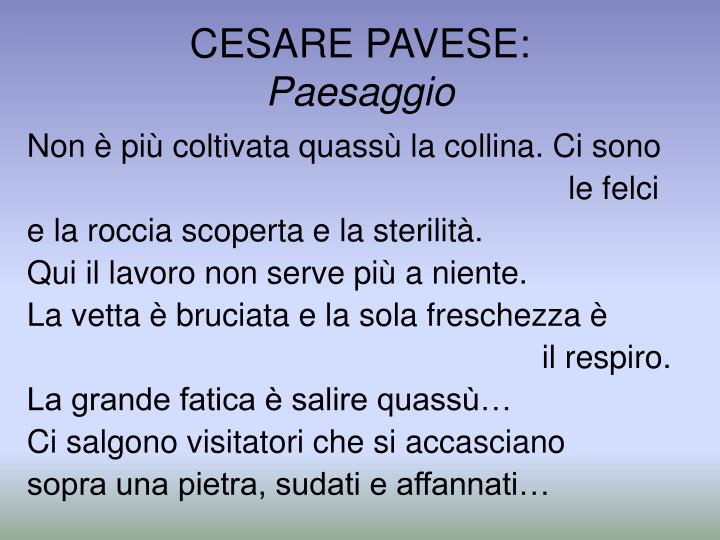 CESARE PAVESE: