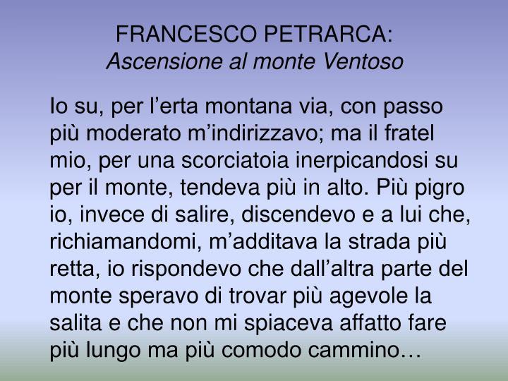 FRANCESCO PETRARCA: