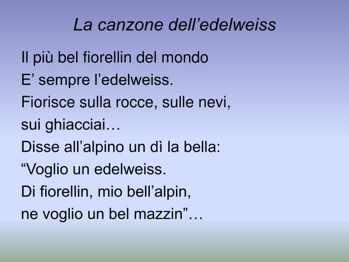 La canzone dell'edelweiss