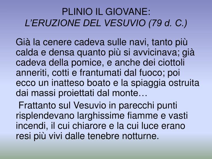 PLINIO IL GIOVANE: