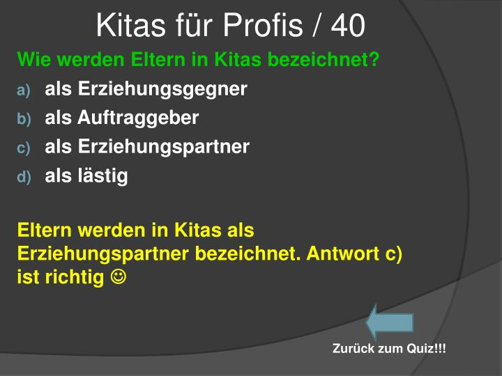 Kitas für Profis / 40