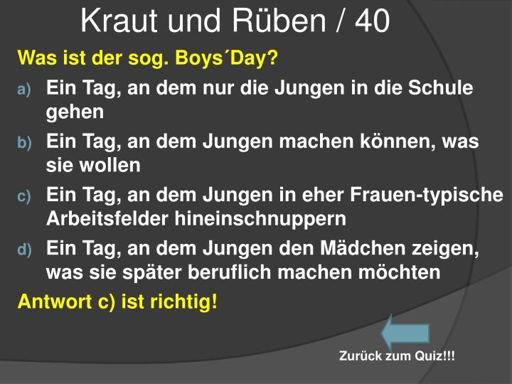 Kraut und Rüben / 40
