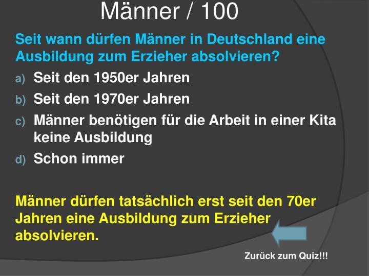 Männer / 100