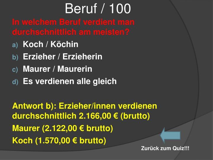 Beruf / 100