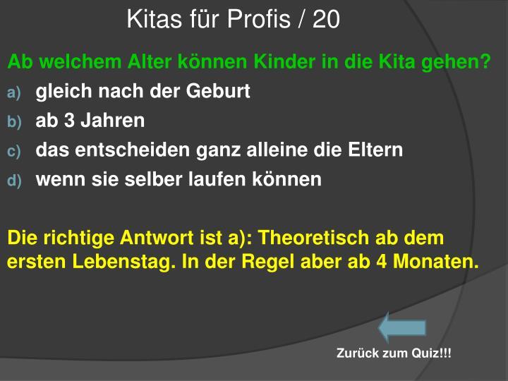 Kitas für Profis / 20