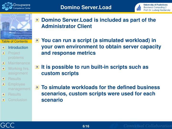 Domino Server.Load