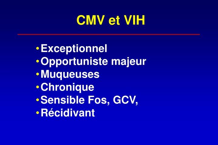 CMV et VIH