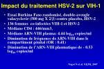 impact du traitement hsv 2 sur vih 1