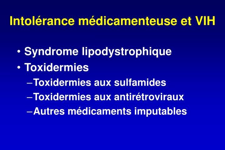 Intolérance médicamenteuse et VIH