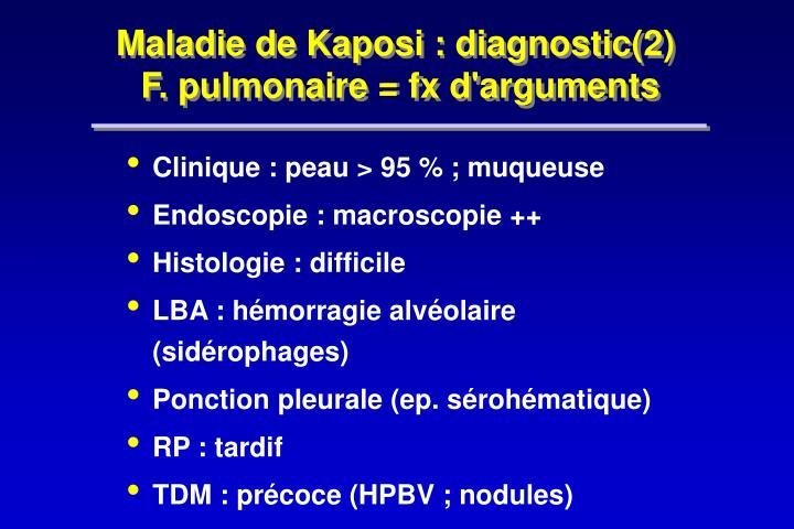 Maladie de Kaposi : diagnostic(2)