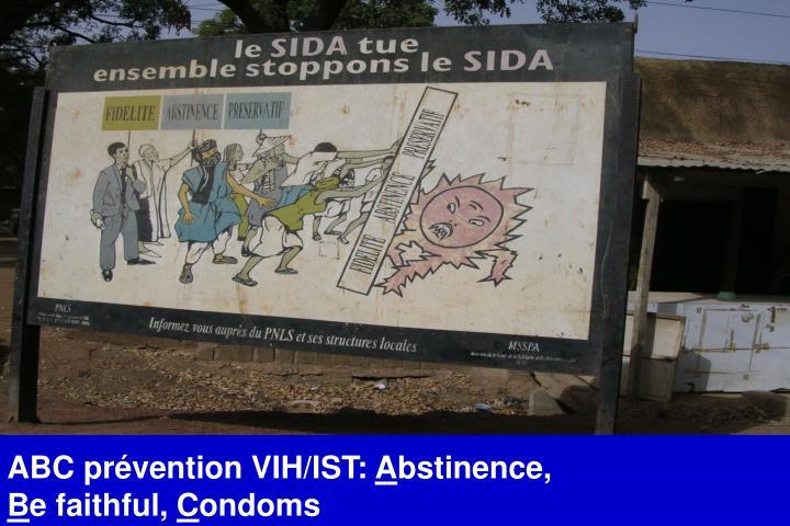 ABC prévention VIH/IST: