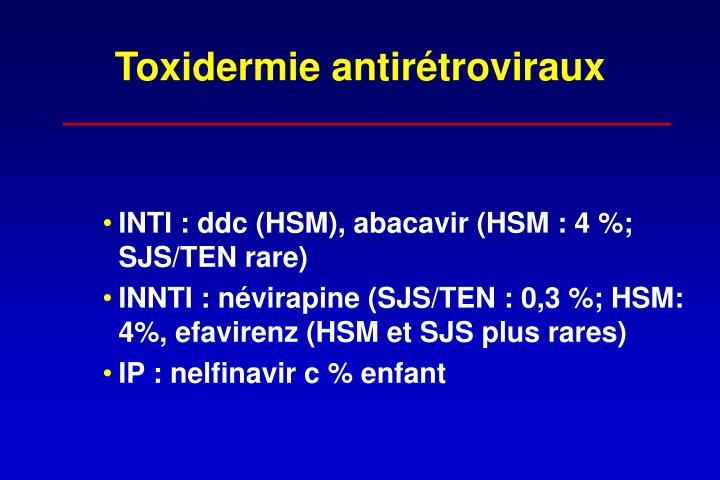 Toxidermie antirétroviraux