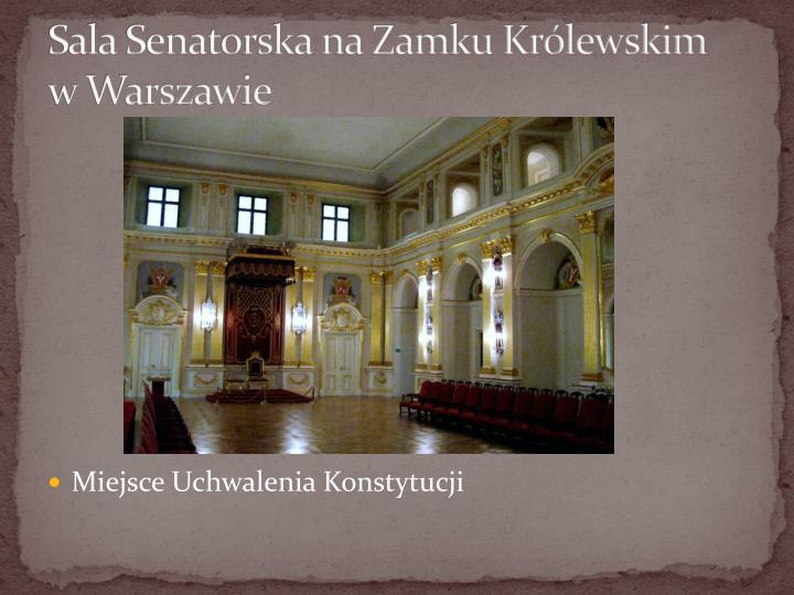 Sala Senatorska na Zamku Królewskim