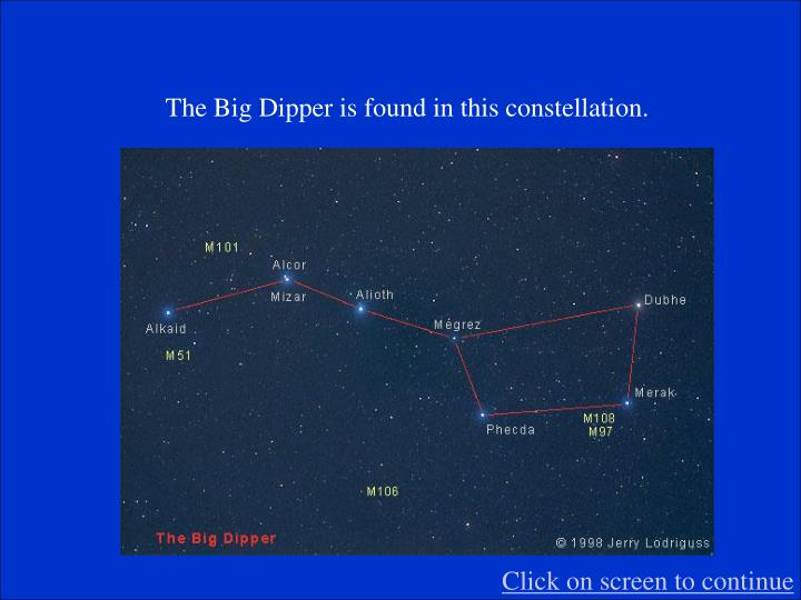The Big Dipper is found in this constellation.