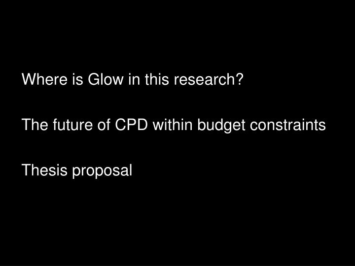 Where is Glow in this research?