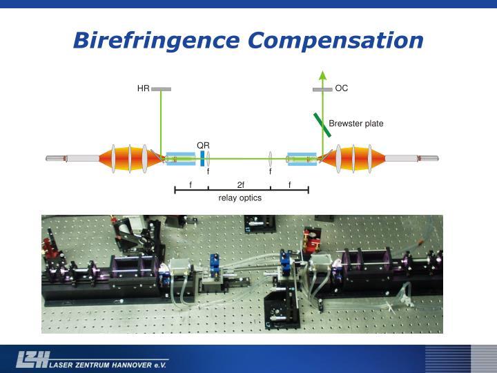 Birefringence Compensation