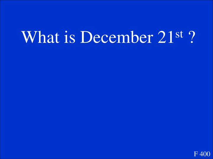 What is December 21