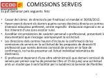 comissions serveis