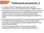 professorat provisional 2
