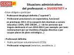 situacions administratives del professorat diversitat
