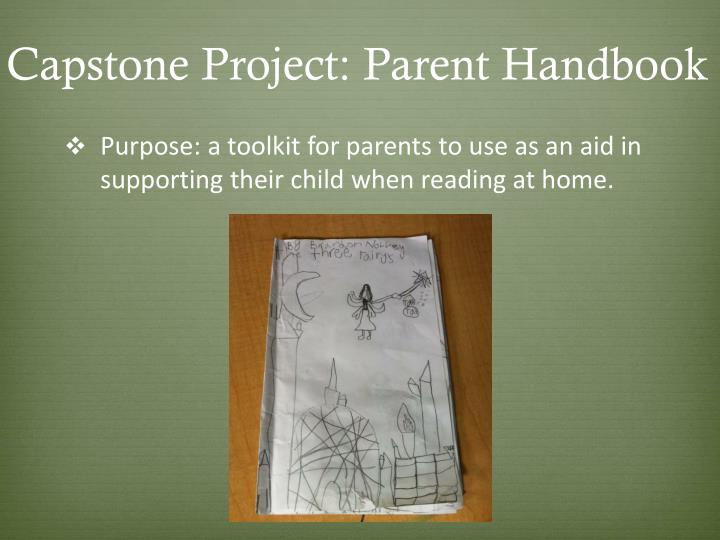 Capstone Project: Parent Handbook