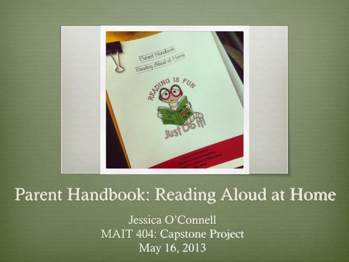 Parent handbook reading aloud at home