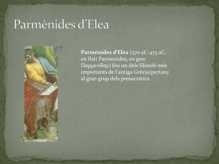 Parmènides