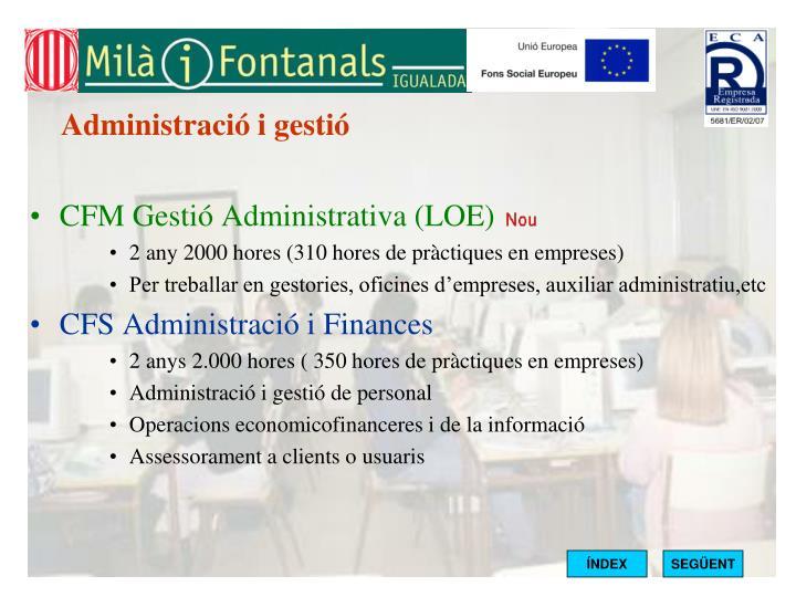 Administració i gestió