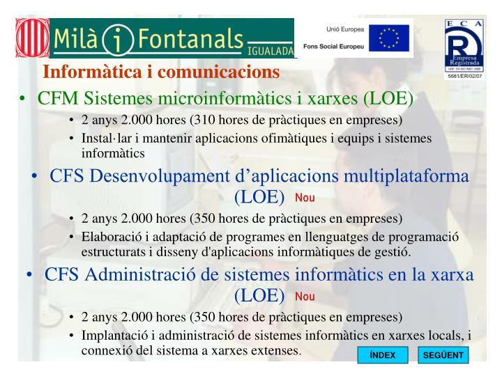 Informàtica i comunicacions