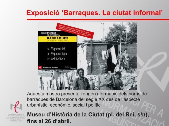 Exposició 'Barraques. La ciutat informal'