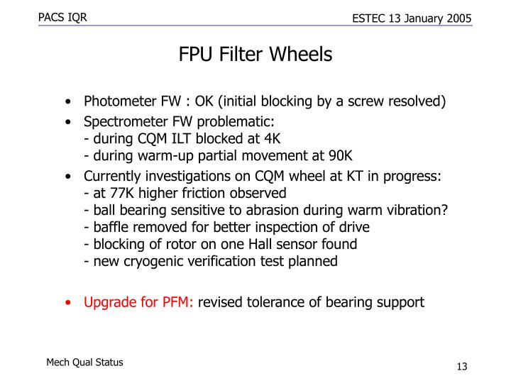 FPU Filter Wheels