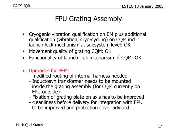 FPU Grating Assembly