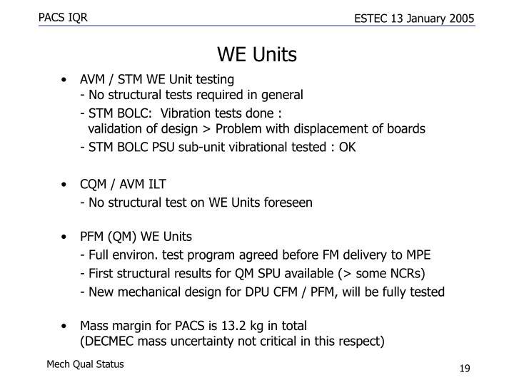 WE Units