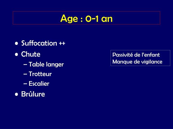 Age : 0-1 an