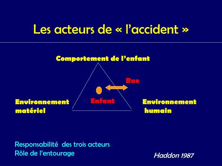 Les acteurs de «l'accident»