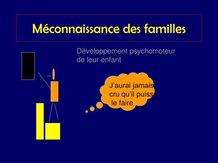 Méconnaissance des familles