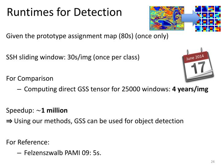 Runtimes for Detection