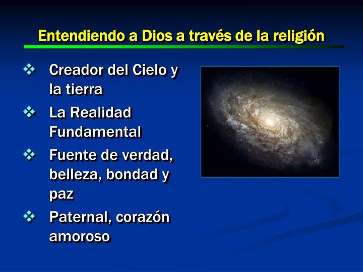 Entendiendo a Dios a través de la religión