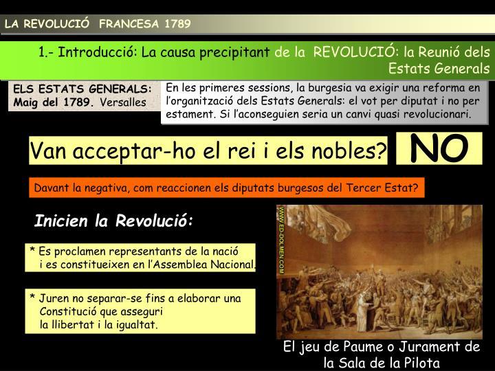 LA REVOLUCIÓ  FRANCESA 1789