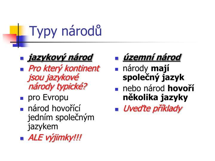 jazykový národ