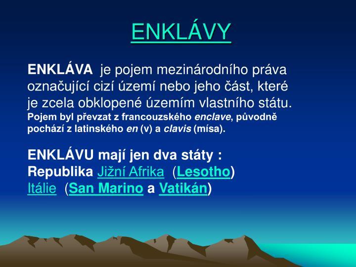 ENKLÁVY