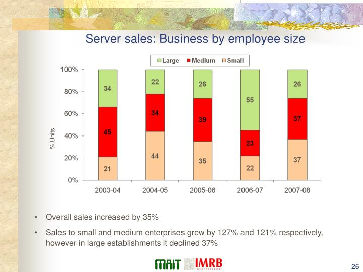Server sales: Business by employee size