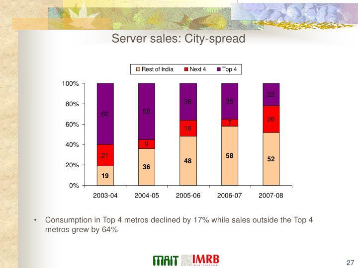 Server sales: City-spread