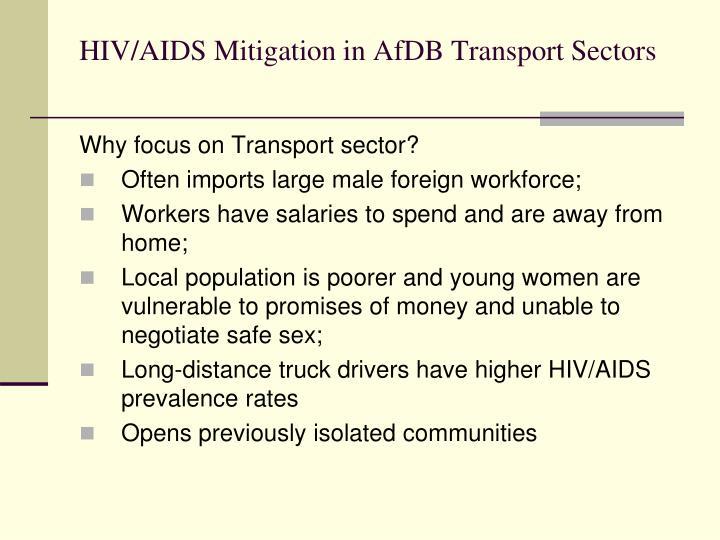 HIV/AIDS Mitigation in AfDB Transport Sectors
